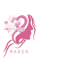 happy womens day design on white background vector image