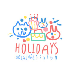 holidays original design logo template colorful vector image