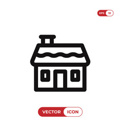 house icon homeresidential symbol flat sign vector image