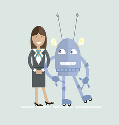 Human and robot characters cooperation vector