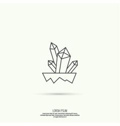 Icon with crystals vector