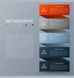 infographic design of 5 options vector image