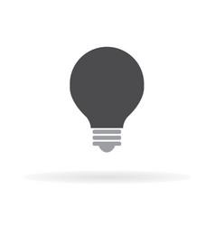light bulb icon flat design 1 vector image