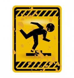 mind the step sign vector image