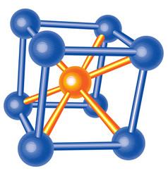 molecular lattice vector image
