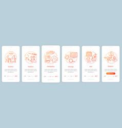 Nursing service onboarding mobile app page screen vector