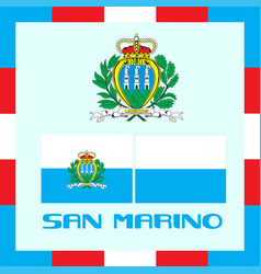 official government ensigns of san marino vector image