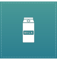 Pack of milk icon vector