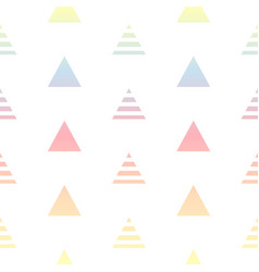 pastel colors gradient triangles seamless pattern vector image