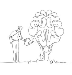 personal development - one continuous line design vector image