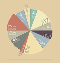 Pie chart for documents and reports infographic vector