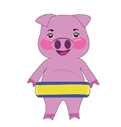 Pig in Float pool vector