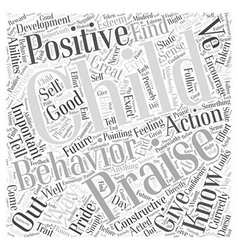 Postive Praise for your Childs Pride Word Cloud vector