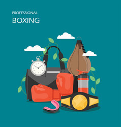 professional boxing flat style design vector image