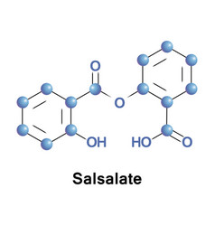 salsalatenonsteroidal anti-inflammatory drug vector image