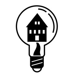 save home light icon simple style vector image