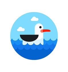 Seagull icon Summer Vacation vector image