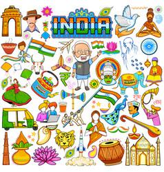 set of beautiful indian design element for happy vector image vector image