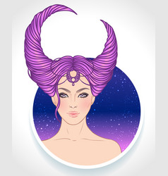 taurus astrological sign as a vector image