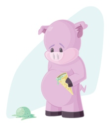 The Sad Pig vector image