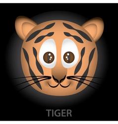 Tiger cartoon character head eps10 vector