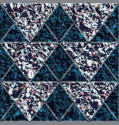 triangle seamless pattern with stone texture vector image