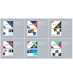 Triangular design presentation template with vector