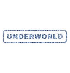 Underworld textile stamp vector