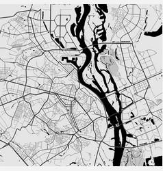 Urban city map kyiv kiev poster grayscale vector