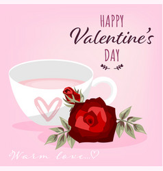 valentines day background vector image