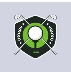 Vintage color golf badge vector image