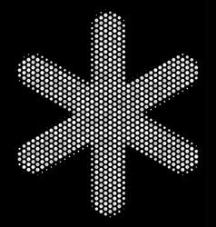 White dot snowflake icon vector