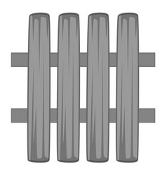 wooden fence icon monochrome vector image