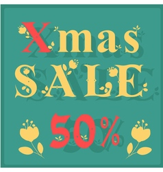 Xmas Sale Fifty percents vector image
