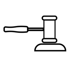 auction hammer icon vector image