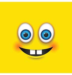 buck teeth square emoji vector image