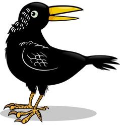 crow or raven bird cartoon vector image vector image