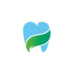 health gradient logo template blue tooth concept i vector image
