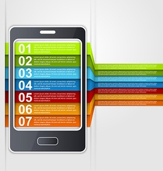 Infographic smartphone design concept vector image