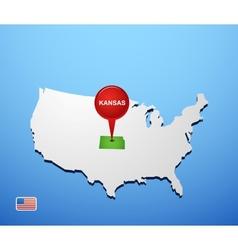 Kansas vector image vector image