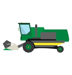 Obsolete green harvester vector image