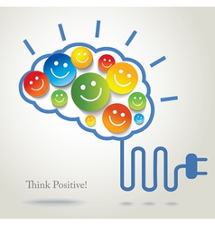 positive thinking vector image vector image