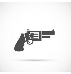 Revolver pistol icon vector image vector image