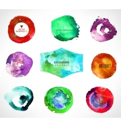 Set of watercolor background vector image