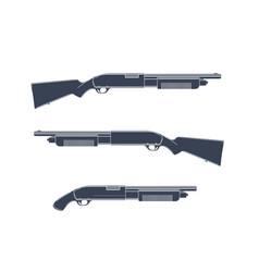 shotguns isolated on white vector image