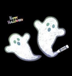 a white ghosts drawn with a crayon vector image