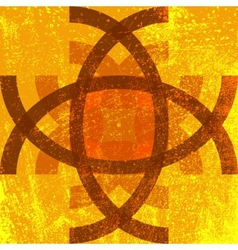 Abstract Grunge Symbol vector image vector image