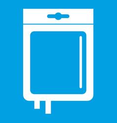 Blood transfusion icon white vector