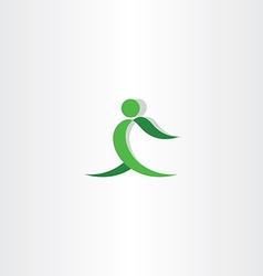 green man exercise logo icon vector image vector image
