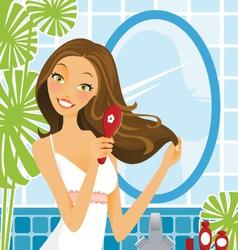 Hairbrush Woman vector image vector image